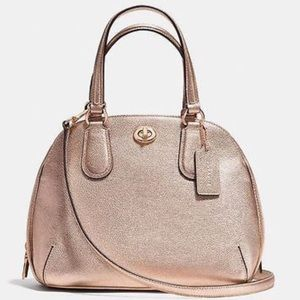 NWOT Coach Prince St Mini Rose Gold Satchel